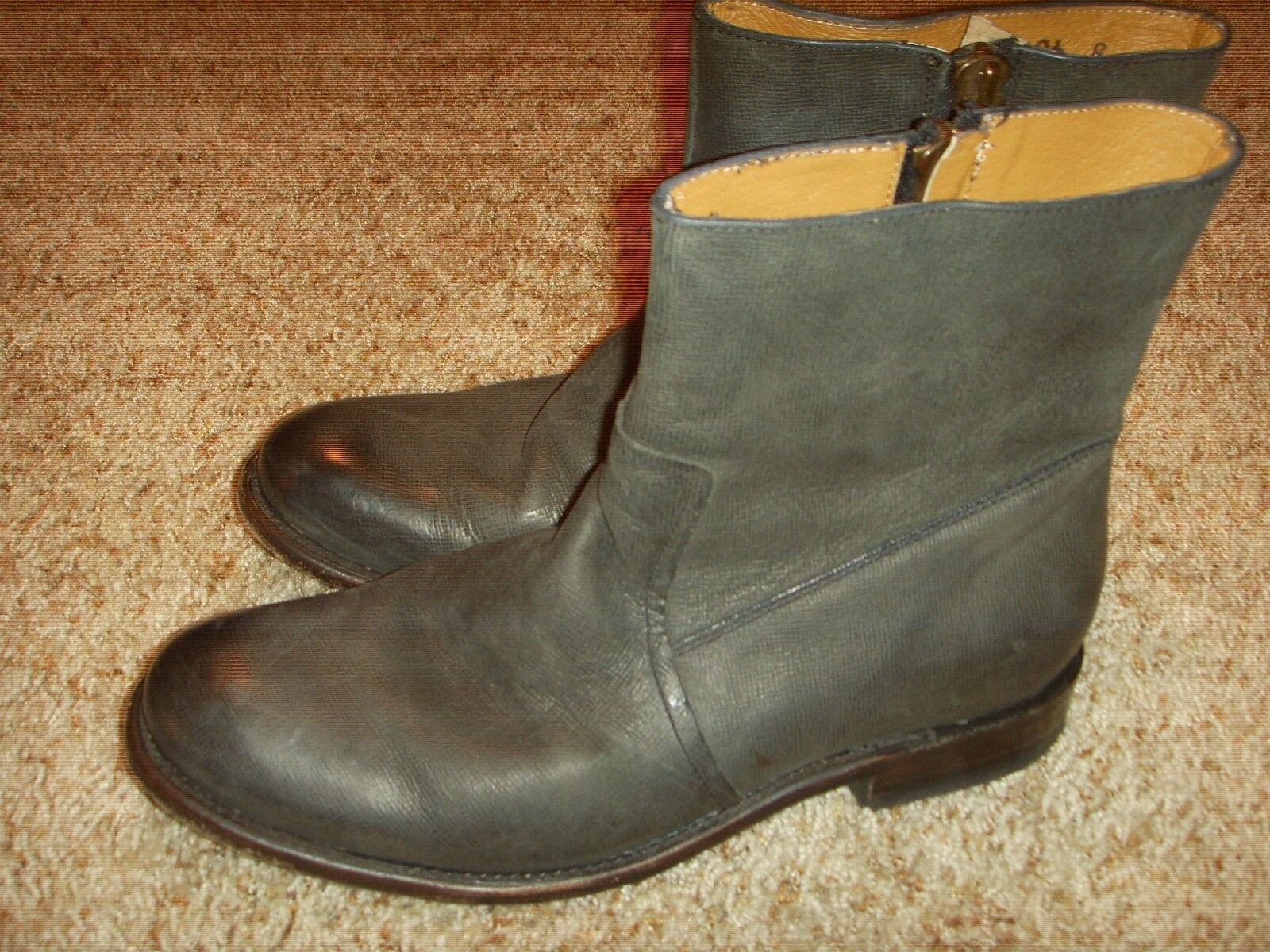 J.D. Fisk Dale Ankle-High Leather Boot Mens Size 8M