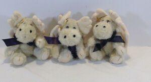 Boyds 1998 QVC Exclusive Angel Moose Ornaments - SET OF THREE - MORLEY