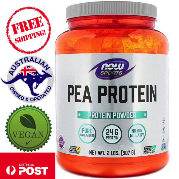 Now Foods Vegan Sports Pea Protein Natural Unflavored 2 lbs (907 g) Non-GMO