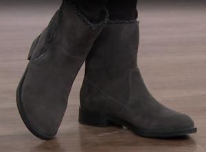 Sporto, Girl Water-Resistant Suede Tassel Boot in Grey 7.5 W