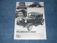 """1932 Ford Victoria Street Rod Vintage Article """"Vollbrecht's Vicky"""""""