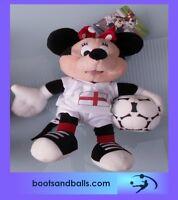 (acc521) Brand New Disney Minnie mouse england footballer plush toy BNWT