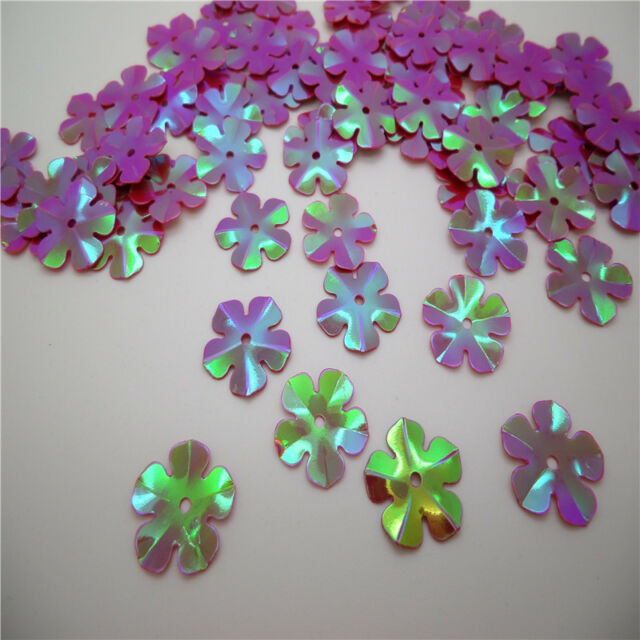 NEW DIY13mm shiny flowers loose sequins Paillettes sewing Wedding many Pick U