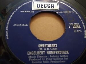 ENGELBERT-HUMPERDINCK-034-SWEETHEART-034-7-034-SINGLE-1970-VERY-GOOD-DECCA