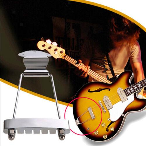 6 Saiten Gitarre Saitenhalter Brücke für Archtop  Gitarre Ersatz Chrom