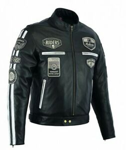 Veste-Makson-En-Cuir-Moto-Homme-Vintage-Cafe-Racer-Leather-Jacket-Rocker