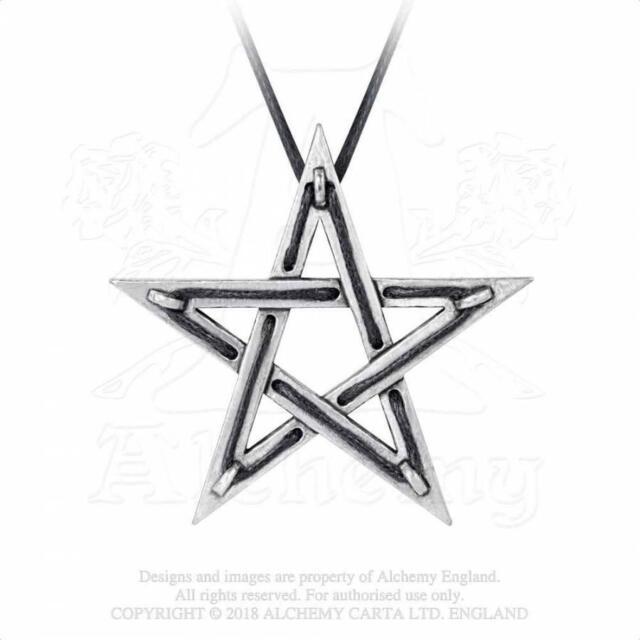 fb30bb80b822 Colgante estrella pentagrama talismán Tethered Hex pendant P831 Alchemy