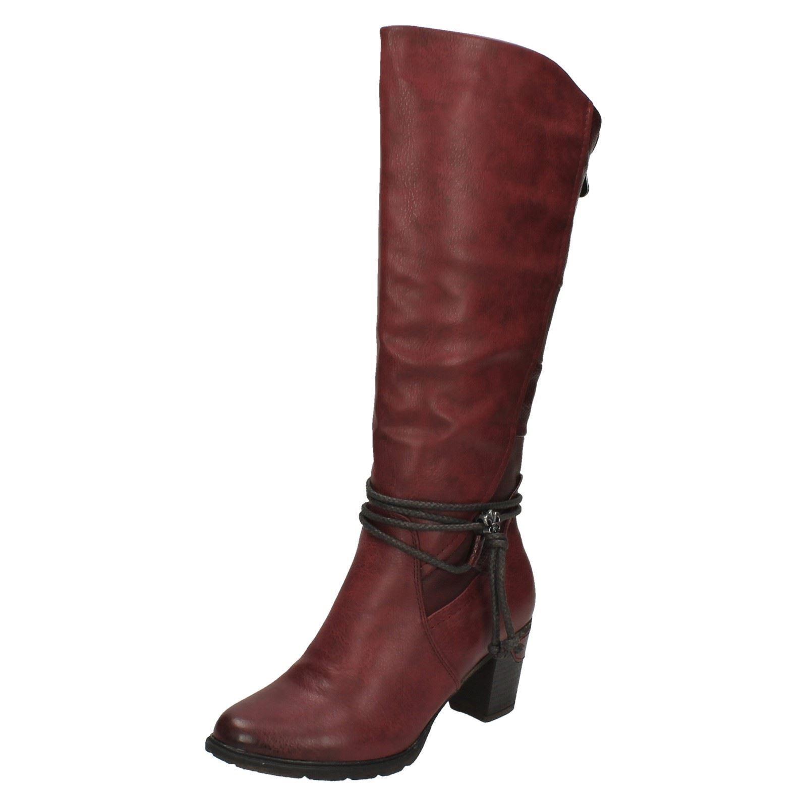 Damen Rieker 96058 Absatz rot warm gefüttert mit Absatz 96058 lange Stiefel 19b0ad