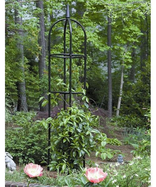 Garden Obelisk Trellis Metal Climbing Plants Flower Vines Yard Support  Round New