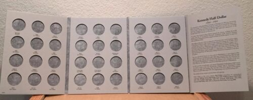 NEW HARRIS // WHITMAN 1964-1984  KENNEDY HALF DOLLAR  COIN FOLDER  H E