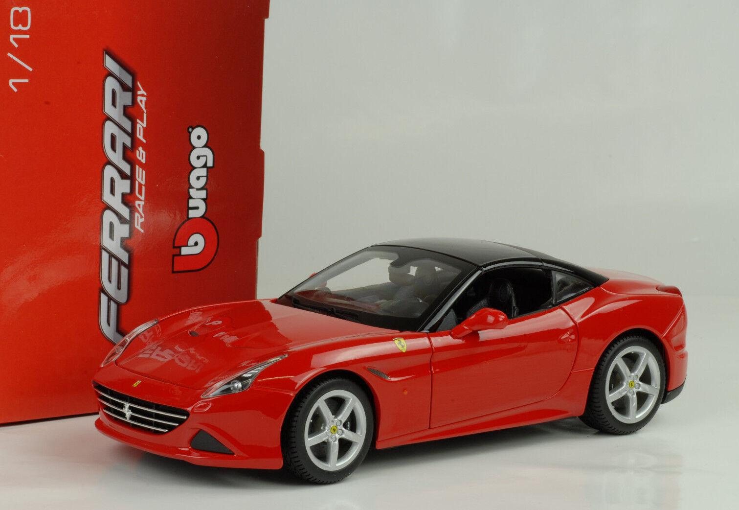 n ° 1 en línea 2014 Ferrari California T Hardtop rojo Rojo 1 18 Bburago Bburago Bburago  ahorra hasta un 50%