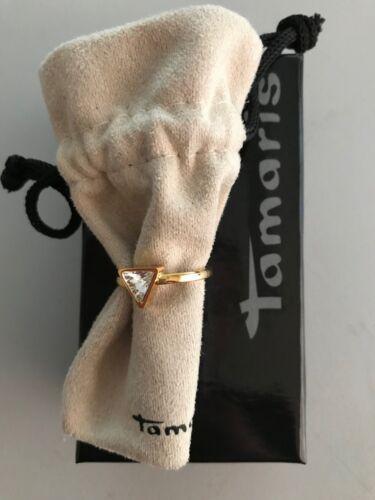 Tamaris Jewelry sandy anillo de acero inoxidable Doradas con cristal piedra a0711102-5
