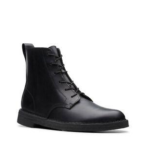 Details zu Clarks ORIGINALS Mens Desert Mali Boots in Black Leather Size 10.5 UK BNWT