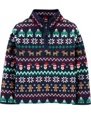 OshKosh BGosh Boys Colorblock Fleece Cozie Pullover