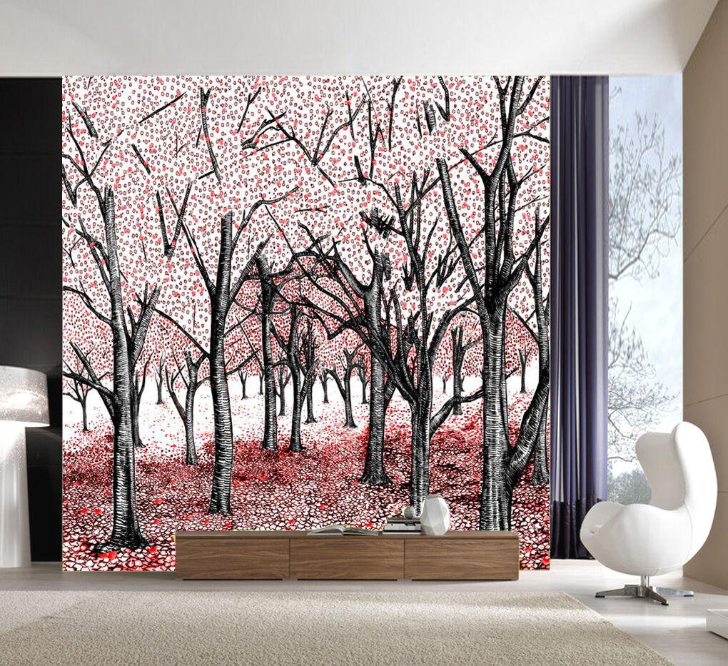 3D Lovely woods 235  Wall Paper Print Wall Decal Deco Indoor Wall Murals