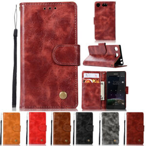 the latest 91e5f 75775 Details about For Sony Xperia XZ1 /Compact Luxury Leather Flip Magnetic  Card Wallet Case Cover