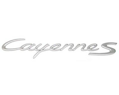 "Emblem /""Cayenne S/"" Genuine For Porsche 955559037014W9 Aluminum Satin"