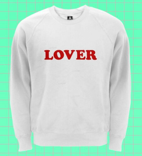 Lover Sweatshirt Indie Retro Blogger Jumper Hipster Rose Lit Heart Sweat Top