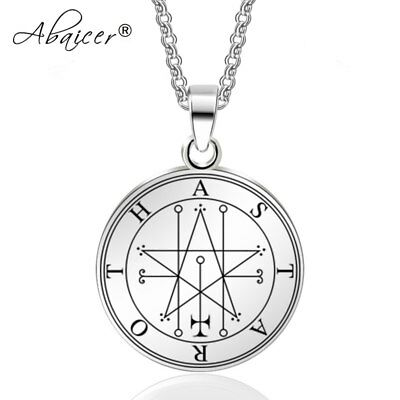 Workmanship In Ambitious Astaroth Key Of Solomon Stainless Steel Pendant Seals Of The Seven Archangels Exquisite