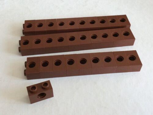 3700 30 Stück S 2 # Lego Stein 1x2 reddisch braun Loch