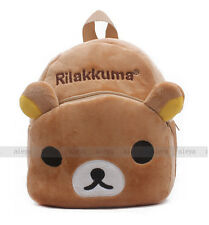 New Rilakkuma Relax Bear Backpack Child Preschool Bag Plush Schoolbag Candy Bag