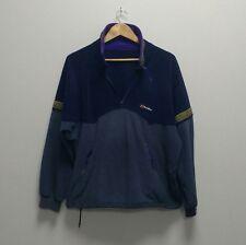 Vintage Berghaus Navy 1/2 Half Zip Fleece Pull Over Jacket Wavey Garms L
