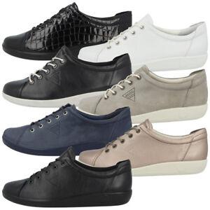 Details zu Ecco Soft 2.0 Ladies Schuhe Damen Leder Halbschuhe Schnürer Sneaker Biom II 7
