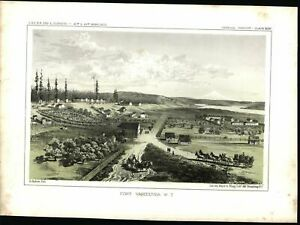 Fort-Vancouver-Washington-Territory-1860-Western-U-S-color-lithograph-print