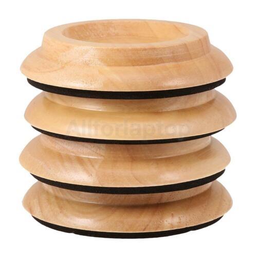 Piano Caster Cup Fußrolle Becher aus Holz für Klavier Rutschfester Anti-Lärm