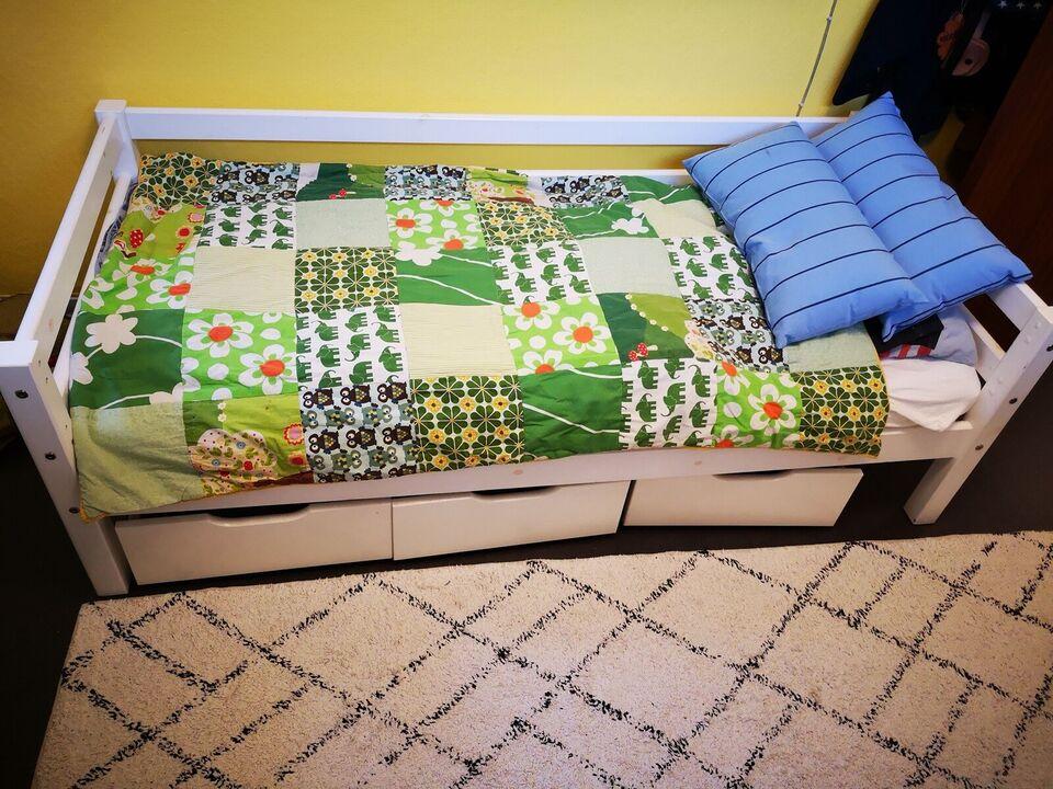 Juniorseng, junior seng med skuffer, b: 80 l: 160