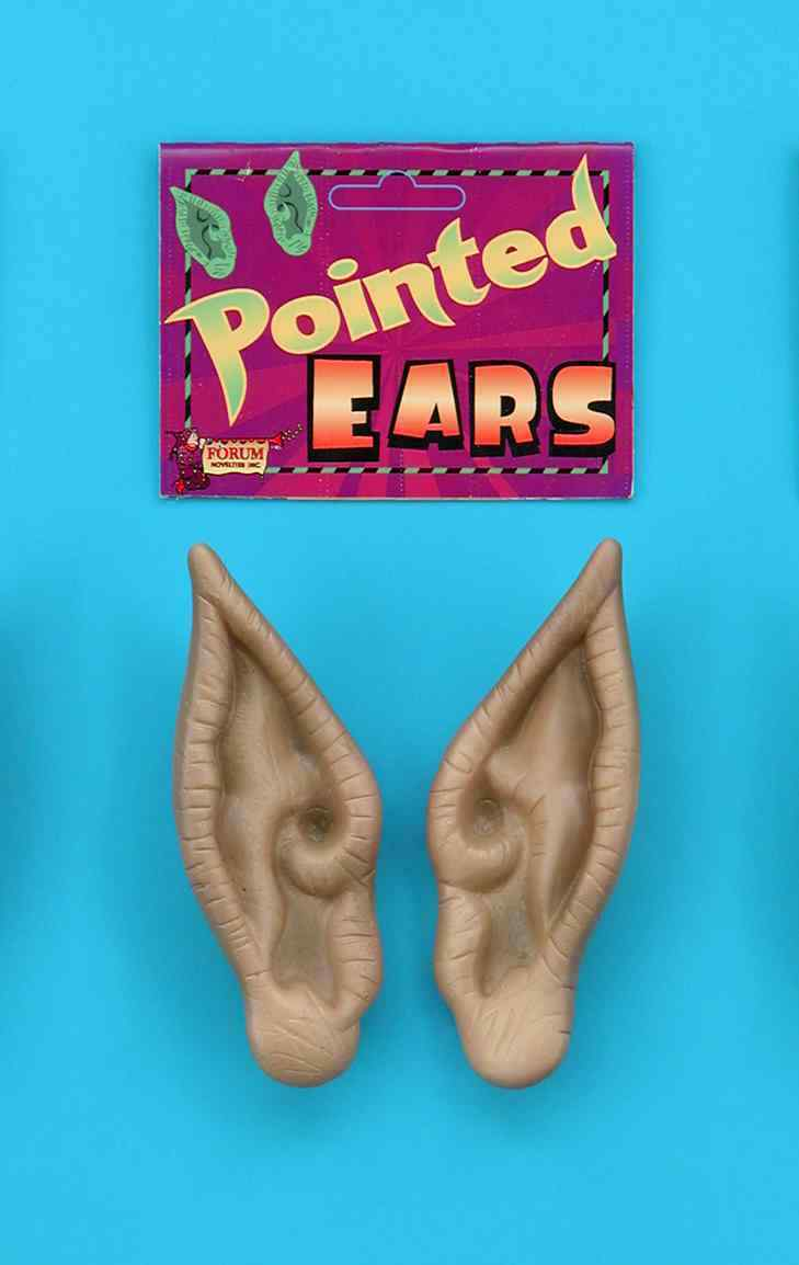 Prosthetic Pointed Flesh-Colored Costume Ears One Size