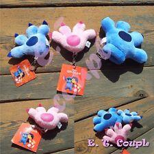 3PC Disney Stitch Angeles couple family glove plush set doll pendant keychain