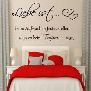 Wandtattoo Schlafzimmer Liebe ist beim Aufwachen festzustellen ...