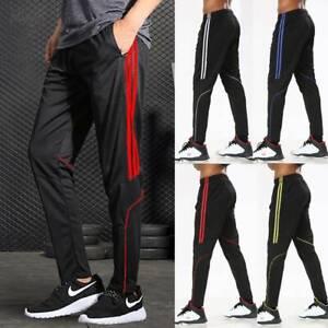 Men-039-s-Sports-Track-Pants-Sweatpants-Training-Zipper-Pocket-Jogger-Gym-Trousers-O