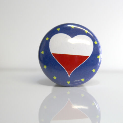 2 Badges Europe PIN BACK BUTTON Pologne 25mm