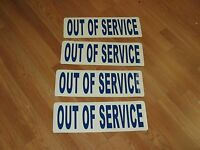2 Pair Out Of Service Magnetics Truck Ems Fire Ambulance Tow Truck 18 Wheeler