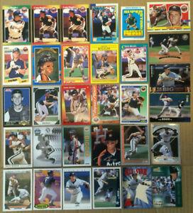 Craig-Biggio-LOT-of-49-Rookie-insert-base-cards-NM-HOF-Houston-Astros-1989-1998
