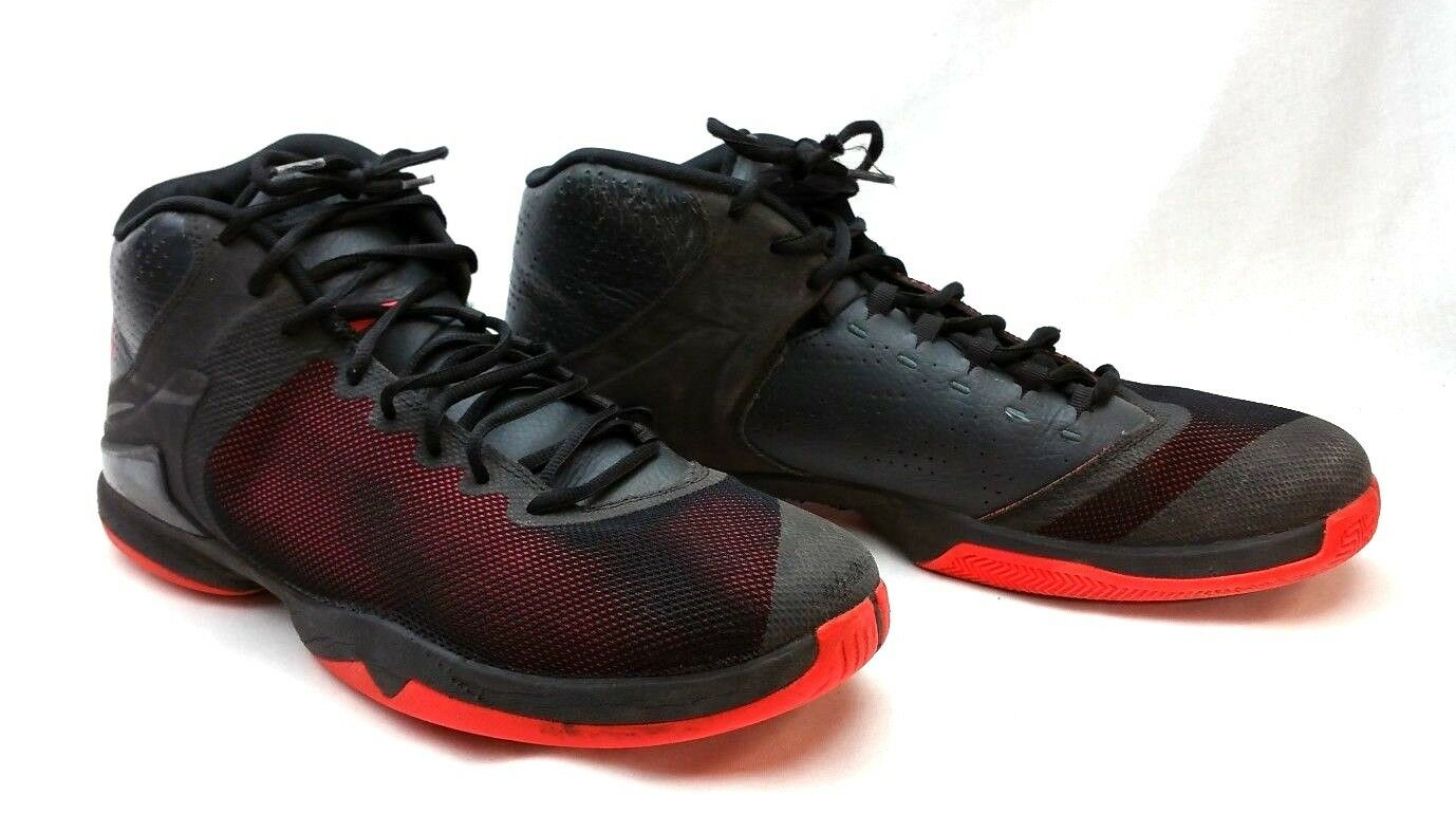 819163-012 Air Jordan Super Fly 4 PO Black & Red Wild casual shoes