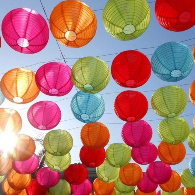 25 Packs Colorful Paper Lanterns