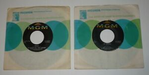 Beatles & Tony Sheridan 2 MGM 45 RPM Records: Why/Cry For A Shadow & My Bonnie