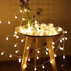 Agressif 20 électrique Del Feston Globe Ampoule Boule Lampe String Lumières Jardin Extérieur Intérieur-afficher Le Titre D'origine