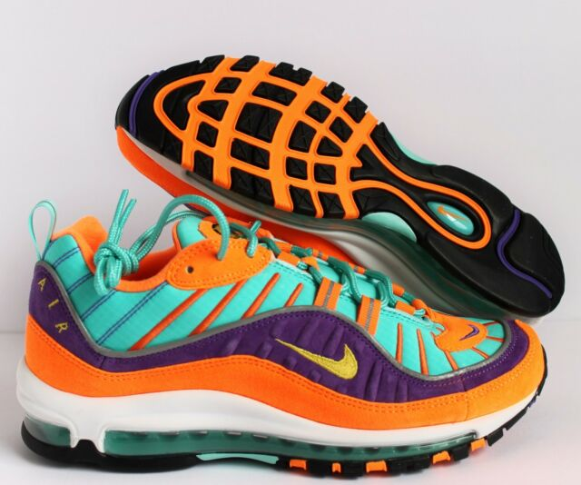 newest 7fa20 9a0c8 NIKE MEN AIR MAX 98 QS CONE-TOUR YELLOW-HYPER GRAPE SZ 8