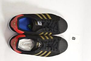 450a00d22359 Adidas SUPERSTAR VULC ADV Leather Black Gold Red Discounted (334 ...