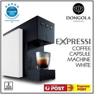 White 2016 Aldi Expressi Capsule Pod Automatic Coffee Machine System