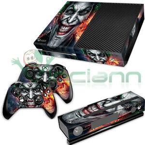 Cover-skin-sticker-adesivo-console-JOKER-per-Xbox-One-pellicola-decal-adesivi