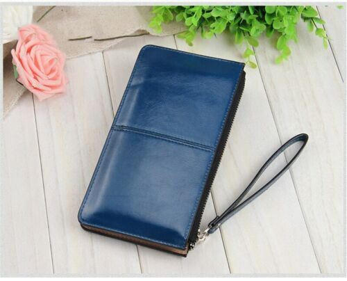 Long Leather Purse Women Wallets Female Handbag Coin Clutch Card Clamps Billfold