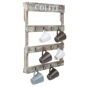 Image Is Loading Wall Mount Coffee Mug Tea Cup Rack Holder