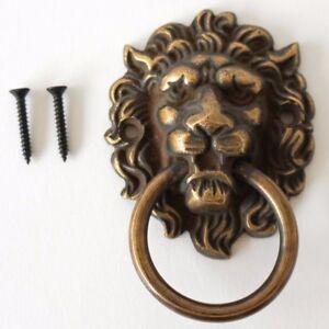 Image Is Loading Lion Brass Door Knocker Vintage Antique Victorian Metal