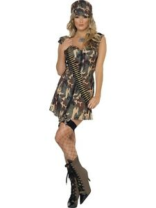 ladies-Sexy-Army-Camouflage-Soldier-hat-dog-tag-glasses-etc-Fancy-Dress-Costume