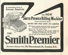 1905 Smith Premier Billing Machine Saves 50 Percent In Labour Extreme Simplicity